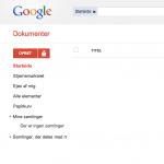 Google Docs forside