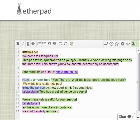 EtherPad im Unterricht